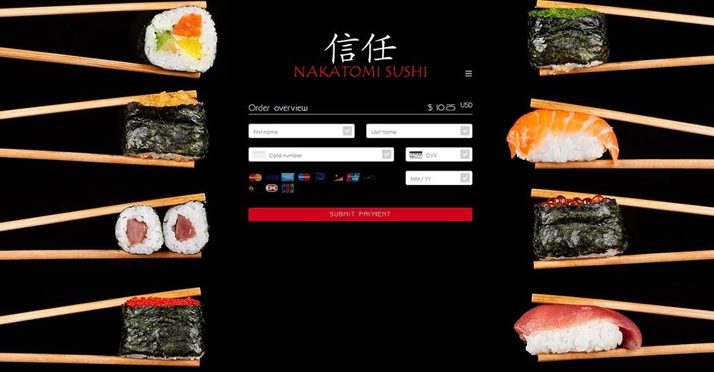 Paymentpage Nakatomi Sushi