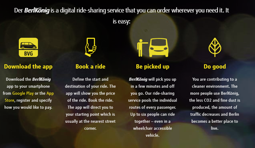 Berlkönig, BVG's digital ride-share service